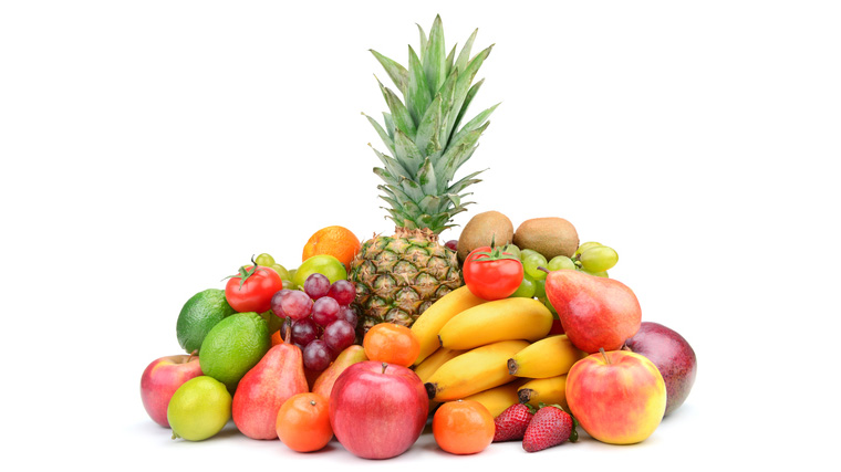 Collection fruit with pineapple